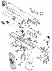 Полная разборка пистолета ТТ. Полная разборка пистолета Токарева ТТ обр.  1933 г.