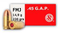 .45 GAP 230gr FMJ Sellier Bellot
