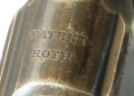 PATENT ROTH - клеймо патента на рамке Roth-Sauer 1900